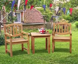 Kennington Teak 2 Seater Garden Set