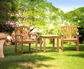 Gloucester Teak 2 Seater Garden Set