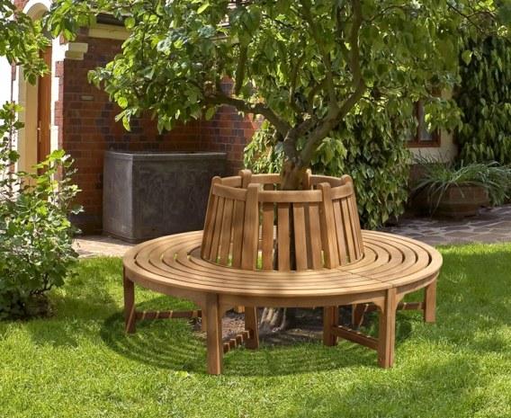 Teak Circular Tree Bench - 1.86m
