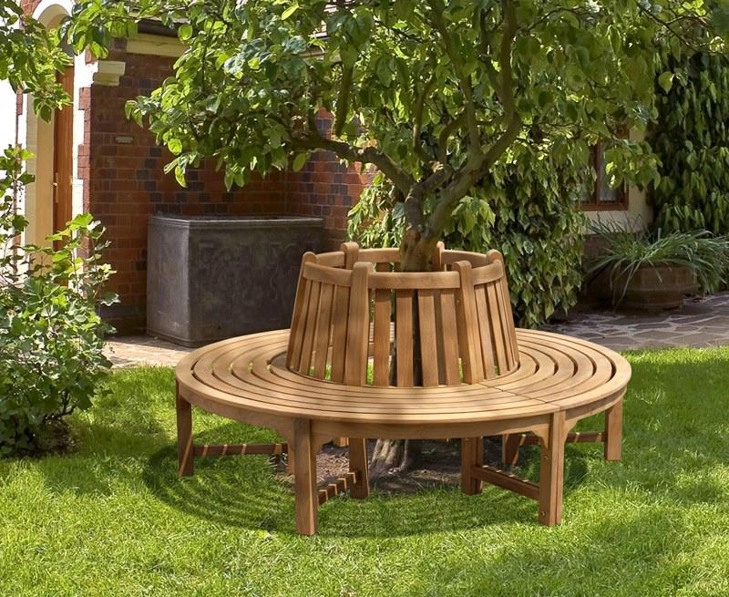 Teak Circular Tree Bench - 1.80m