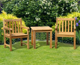 York Teak Garden Conversation Set