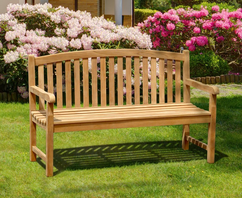 Gloucester Teak 3 Seater Garden Bench - 1.5m
