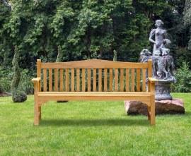 Runnymede Teak 4 Seater Garden Bench - 1.8m