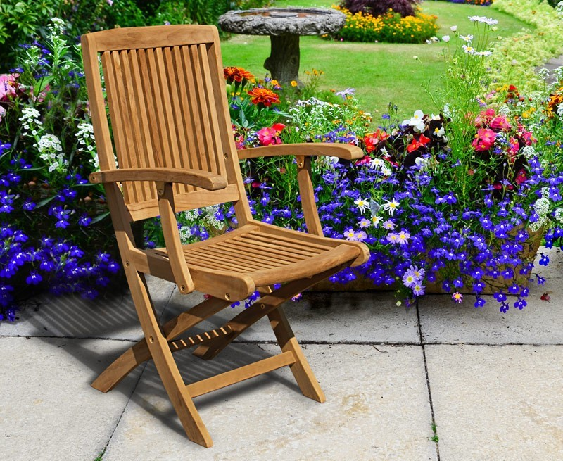 Palma Outdoor Folding Chair with Arms