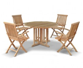 4 Seater Teak Garden Dining Set