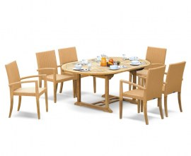 Oxburgh 6 Seater Garden Dining Set