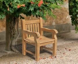 Chunky Teak Outdoor Armchair