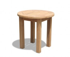 Teak Garden Side Table - 50cm