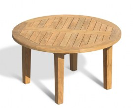 Winchester Round Teak Garden Coffee Table – 90cm
