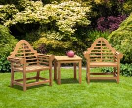 Lutyens-Style Teak Garden Conversation Set