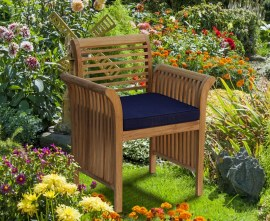 Richmond Teak Contemporary Garden Armchair
