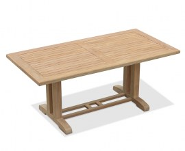 Rectory Rectangular Teak Outdoor Dining Table – 180cm