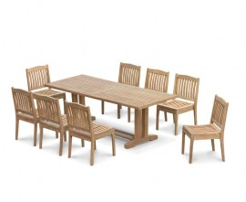 Rectory 8 Seater Teak 2.25 x 0.9m Table and Winchester Chairs