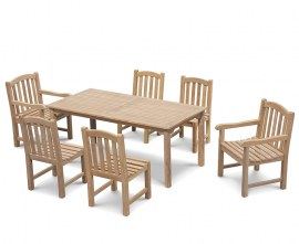 Hampton 6 Seater Rectangular 1.8m Dining Set with Gloucester Chairs