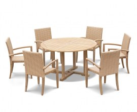 Sissinghurst Round Garden Dining Set