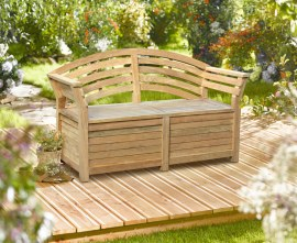 Wellington Garden Storage Bench - 1.65m