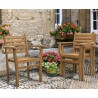 Sussex Teak Stacking Garden Armchair