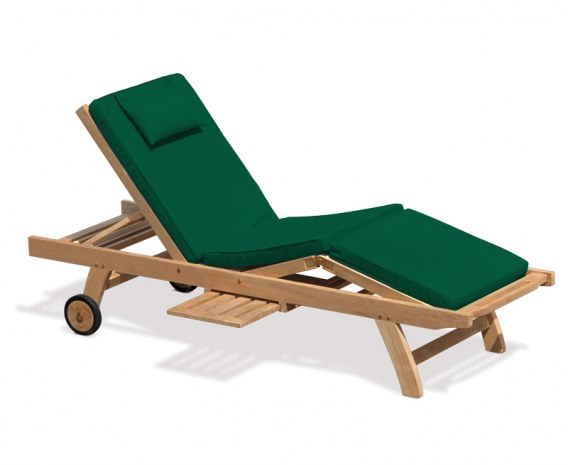 Garden Sunbed Lounger Cushion Pad