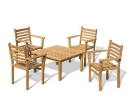 Winchester 4 Seater Conversation Set with Yale Stacking Chairs