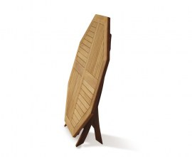 Lymington 4ft Folding Teak Garden Table - 1.2m