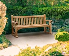 Regent's Park Teak Sled Bench - 1.8m