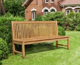 Reigate Teak 4 Seater Dining Bench - 1.8m