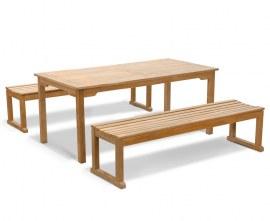 Sandringham Teak Table and Benches Set 1.8m