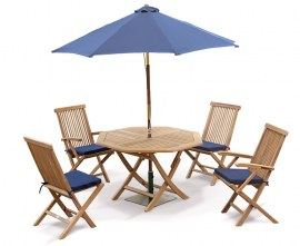 Lymington 4 Seater Teak Folding Garden Dining Set