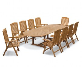 Oxburgh 10 Seater Outdoor Dining Set