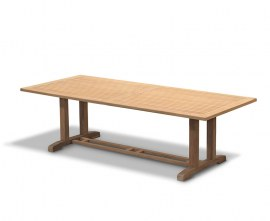 Rectory Rectangular Teak Pedestal Table - 2.6m