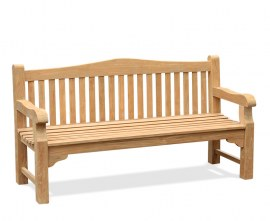 St. James Teak Traditional Park Bench - 1.8m