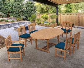 Oxburgh 6 Seater Double Leaf Extending Table with Gloucester Chairs