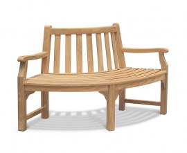 Teak Quarter Tree Seat with Arms