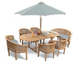 Oxburgh Teak Garden Dining Set