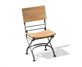 Café Folding Garden Bistro Chair - Black