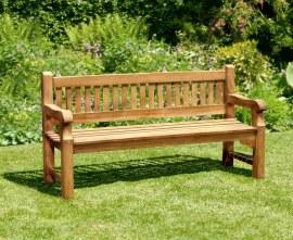 Promenade Teak Heavy Duty Garden Bench - 1.8m