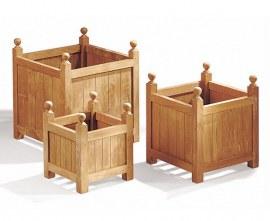 Versailles Teak Square Garden Planters – Set of 3 - S, L & XL
