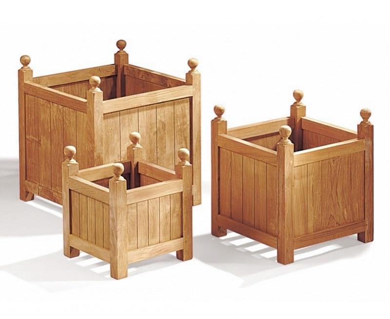 Versailles Teak Garden Planters - S, L & XL, Set of 3