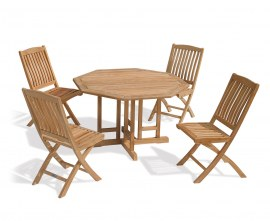 Berwick 1.2m Octagonal Gateleg Table and 4 Cannes Side Chairs Set