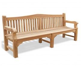 St. James Teak Traditional Park Bench - 2.4m