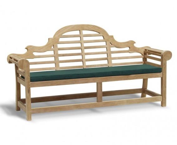 Lutyens-Style 4 Seater Teak Garden Bench - 1.95m
