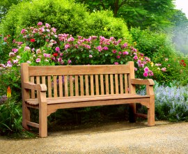 Greenwich Teak Solid Wood Park Bench - 1.8m
