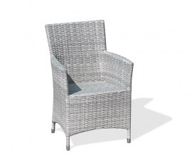 Verona Wicker Outdoor Armchair - Grey Marble