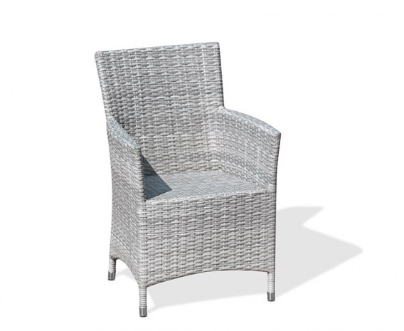 Verona Rattan Garden Armchair, Flat Weave