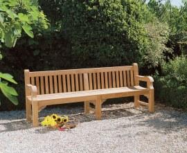 Gladstone Teak Large Garden Bench - 2.4m