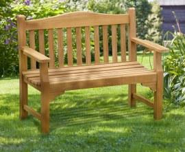 Runnymede 2 Seater Teak Garden Bench - 1.2m