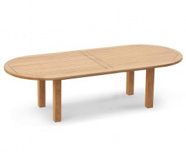 Orion Teak Oval Outdoor Dining Table - 1.2 x 3m