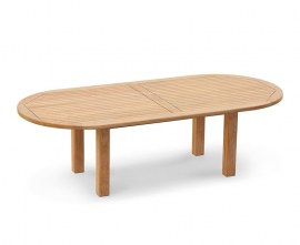 Orion Teak Oval Garden Dining Table - 2.6m