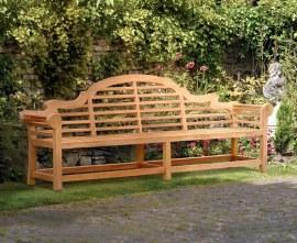 Extra-Large Teak Lutyens-Style Garden Bench - 2.7m