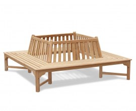 Teak Square Tree Bench - 2.2m